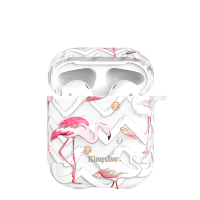 Чехол Kingxbar Flamingo для Apple Airpods Feather